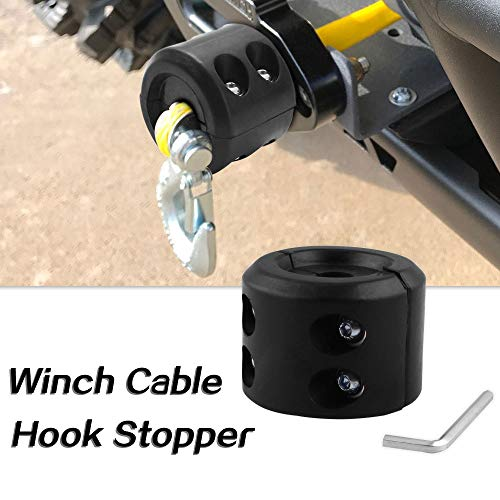 Sporacingrts Winch Cable Hook Stopper Line Stopper Rubber Cushion for ATV UTV