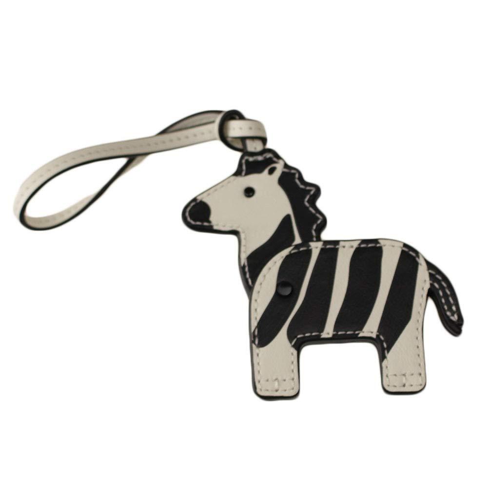 トリーバーチ TORY BURCH レディース キーケースキーリング 44850 zooey the zebra key fob [並行輸入品]   B07K4QVMGM