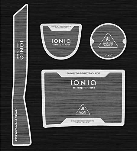 LIGHTKOREA Bloc de Type Piano Deux Porte-gobelet Console Plaque Accessoires 4P pour Hyundai Ioniq 2017/2018