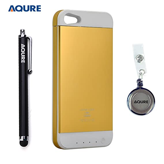 Amazon.com  AQURE trade  3500mAh Extended Battery Case Charger Back ... 5cd2e1137