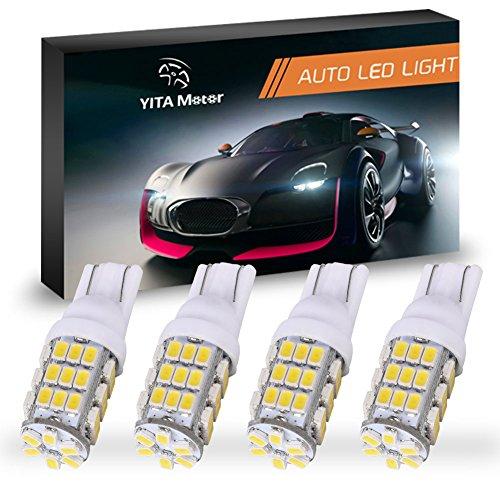 YITAMOTOR T10 42-SMD RV Trailer Car Backup Reverse White LED Light Bulb 194 912 906 168 192 Pack of 4