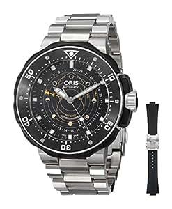 Oris Men's 76176827154RS Moonpointer Analog Display Swiss Automatic Black Watch