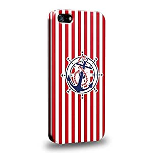 Case88 Premium Designs Art Nautical Anchors Protective Snap-on Hard Back Case Cover for Apple iPhone 5 5s