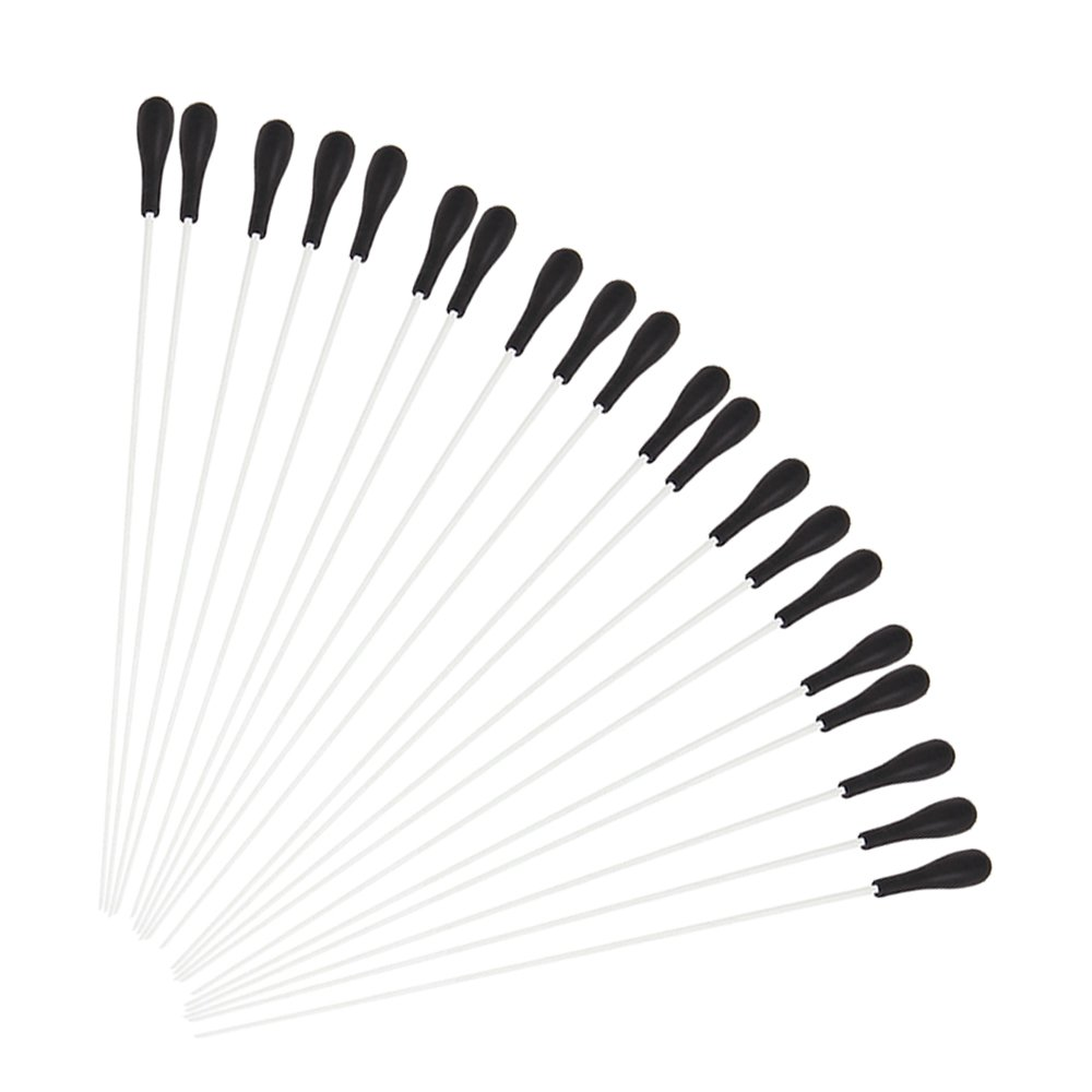 Yibuy White Fibre Glass Music Conductor Baton with Black ABS Handle Set of 40 etfshop Yibuy600
