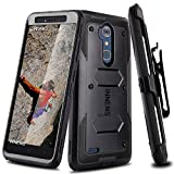 zte blade 3 case - Innens for ZTE Blade Max 3 Case, ZTE Z986 Case, Hybrid Heavy Duty Anti-scratch Shockproof Protective Case with Kickstand Belt Clip for ZTE MAX XL /ZTE N9560 (Black)