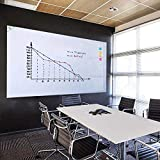 ZHIDIAN Large White Board Sticker for Wall, 72' x 48' or 6' x 4' - Magnetic Dry Erase Surface with Non-Adhesive Backing, Includes 4 Markers