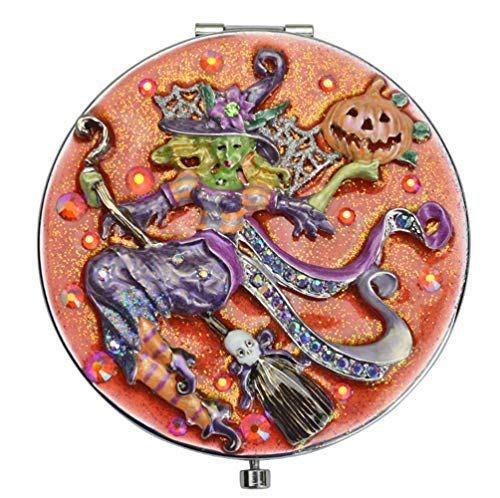 KIRKS FOLLY HALLOWEEN DIVINE DIVA WITCH MIRROR COMPACT silvertone ()