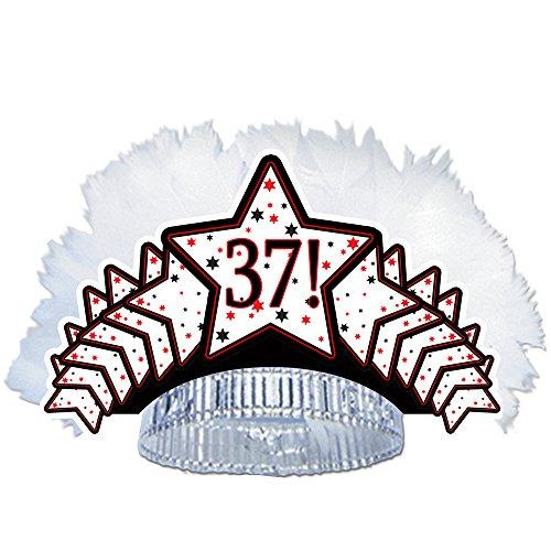 - 37TH BIRTHDAY FEATHERED TIARA (EACH)