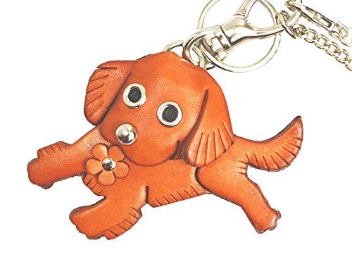 Golden Retriever Genuiine Leather Animal/Dog Bag Charm/KeychainVANCA Handmade in Japan