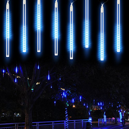 Blue Led Icicle Xmas Lights - 4