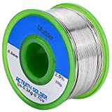 Mudder 0.6mm Sn99 Ag0.3 Cu0.7 0.22lb. Solder Wire with Rosin Core, Lead Free