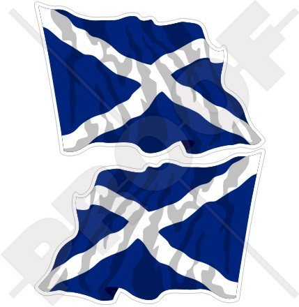 (SCOTLAND Scottish Waving Flag UK St Andrew's Cross, Saltire 3