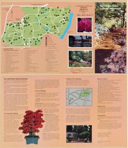 1991 Map U.S. Department of Agriculture, National Arboretum, Washington, D.C. : 1991 - Size: 20x24 - At Stores Arboretum