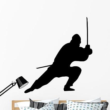 Amazon.com: Wallmonkeys Ninja Silhouette Wall Decal Peel and ...