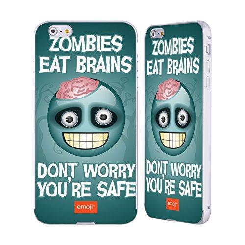 Officiel Emoji Cerveaux De Zombie Parodies D'halloween Argent Étui Coque Aluminium Bumper Slider pour Apple iPhone 6 Plus / 6s Plus