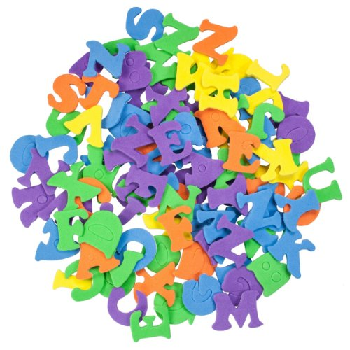Mini Letters (Creative Options 9907 Multiple Color Mini Foam Self Adhesive)