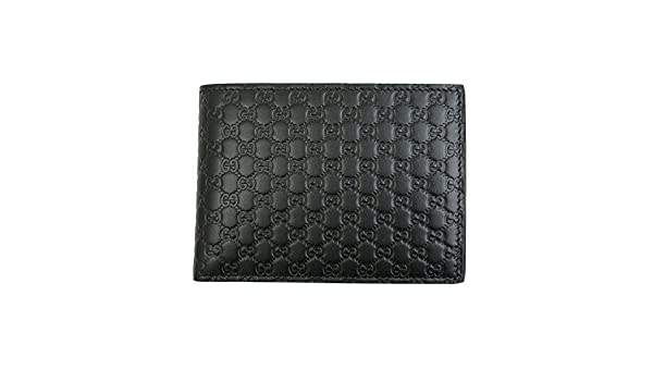56629bf63723cc Gucci Men's Black Micro Guccissima Leather Bi-fold Wallet 292534 Bmj1n:  Amazon.ca: Clothing & Accessories