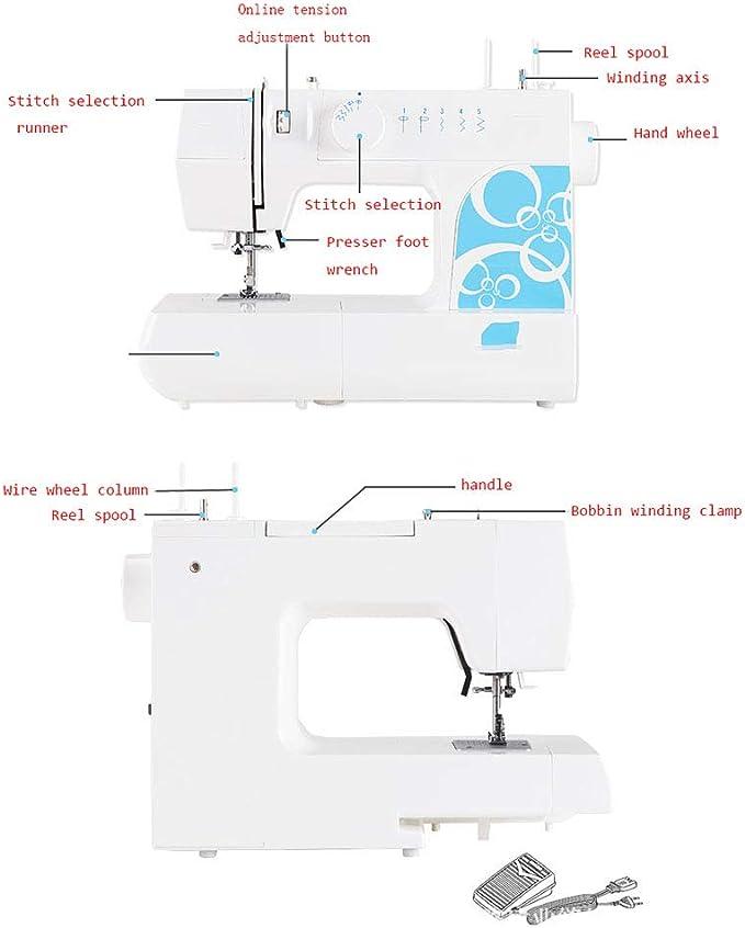 Máquina de coser eléctrica multifuncional de 8 puntadas para el ...