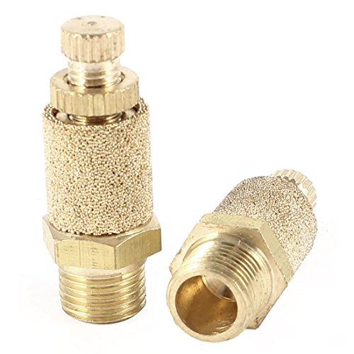 Exhaust Muffler Design - uxcell 2Pcs 1/8PT Thread Sintered Pneumatic Exhaust Silencer Muffler Fitting