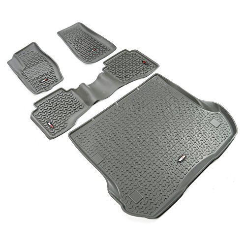 Rugged Ridge All-Terrain 14988.33 Grey Front, Rear and Cargo Floor Liner Kit For Select Jeep Grand Cherokee Models