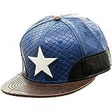 cap marvel comics - Marvel Comics CAPTAIN AMERICA Faux Leather (PU) Snapback Baseball CAP/ HAT