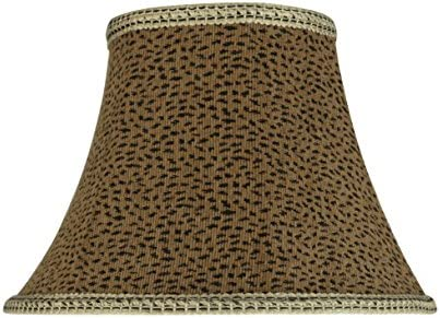 Aspen Creative 30212 Transitional Bell Shape Spider Construction Lamp Shade in Leopard, 13 wide 7 x 13 x 9 1 2