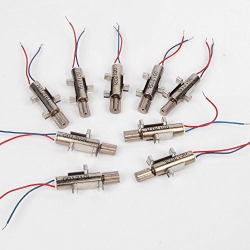 10pcs 1.5V-3VDC 100mA-200mA 4*14MM Extra Micro DC Coreless Motor with vibration mini vibration motor