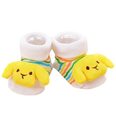 3 pares de bebé recién nacido antideslizante calcetines del niño ...