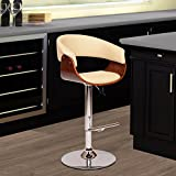 Armen Living LCPASWBACRWA Paris Swivel Barstool in Cream Faux Leather and Chrome Finish Review