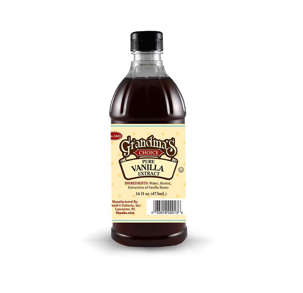 Grandma's Choice Pure Vanilla Extract, 16 Fluid Ounce