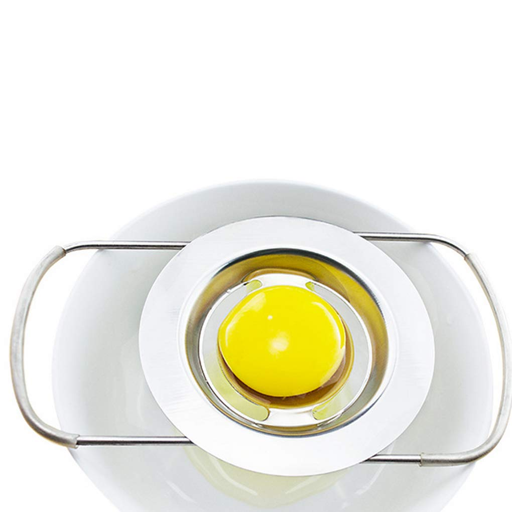 Morza Deluxe Huevo Separador de la Clara de Huevo de la yema del Filtro Separador de Material del Acero Inoxidable