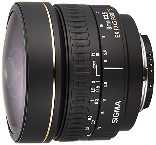 Sigma 8mm f/3.5 EX DG Circular Fisheye Fixed Lens for Nikon SLR Cameras (Sigma Wide Angle Lens For Nikon D7000)