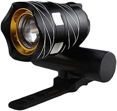 TOOGOO Luz Delantera de Bicicleta Impermeable LED T6 Recargable ...