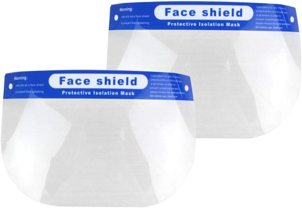 Garneck 6 Piezas Cara Protector Médico Cara Completa Tapa Protectora Antivaho Anti-Saliva Cubierta Facial a Prueba de Polvo Protector Facial Sanitario para Hospital Exterior Médico Enfermera