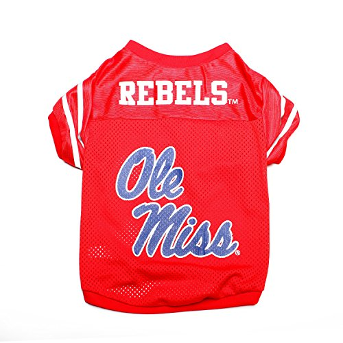 Pet Goods NCAA Mississippi Ole Miss Rebels Collegiate Pet Jersey, Small (Dog Miss Ole)