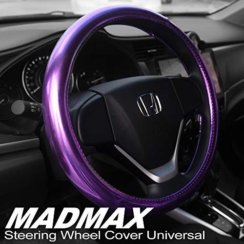 soft purple steering wheel cover - 8