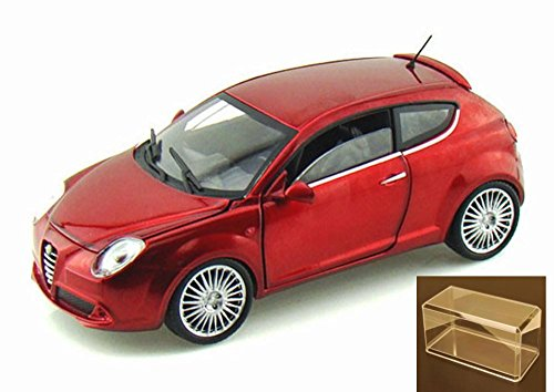 Diecast Car & Accessory Package - Alfa Romeo Mito Hard Top, Metallic Red - Mondo Motors MO51046 - 1/24 scale diecast model car w/display ()