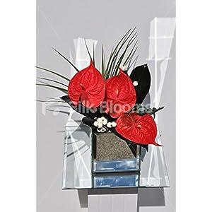 Fresh Touch Red Anthurium & Foliage Homewear Vase Arrangement 20