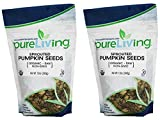 PureLiving Organic Sprouted Pumpkin Seeds - 12 Ounce Bag (Pack of 2) - Sprouted and Dried at Low Temperatures