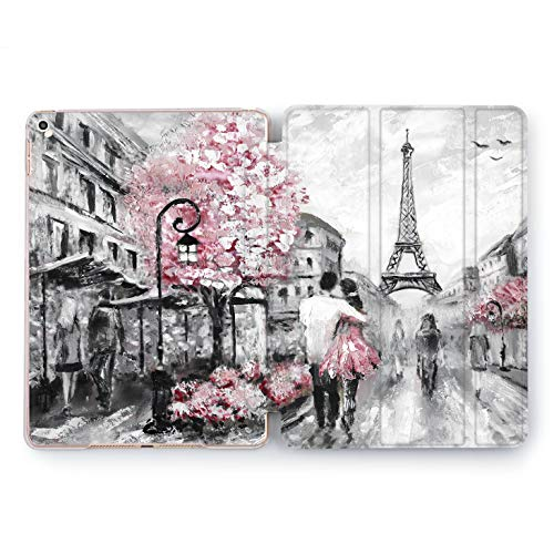 Wonder Wild Paris Love iPad 5th 6th Generation Mini 1 2 3 4 White Black Pink Air 2 Pro 10.5 12.9 2018 2017 9.7 inch Smart Cover World Design Case Apple Print Clear Traveler Couple Eiffel Tower Art]()