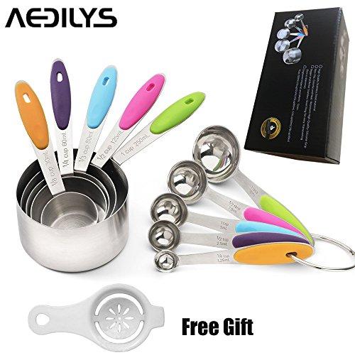 AEDILYS Measuring Spoons Ingredients Separator