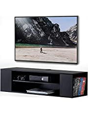 FITUEYES TV Stand Wall Mounted Media Audio/Video Console Shelf AV Entertainment Center Stand DS210002WB…