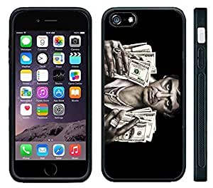 Apple iPhone 6 Black Rubber Silicone Case - Scarface Money Al Pacino Fists full of Cash
