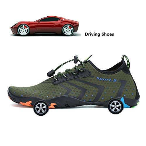 for Dry Skin Quick Aqua Green Socks Outdoor Breathable Water Beach Shoes Mens katliu Womens Barefoot 7pR14HW