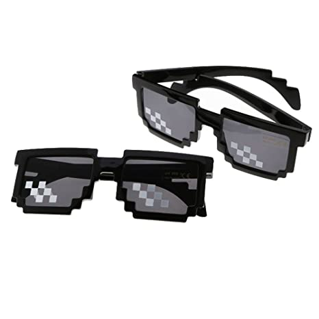 HAPPYX Thug Life Glasse, Deal with It Lunettes de Vie Thug 8 Bit Pixel Deal fa9accc9bb95