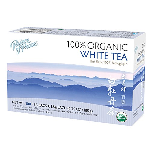 Prince of Peace Organic White Tea 100 Count, 6.35oz