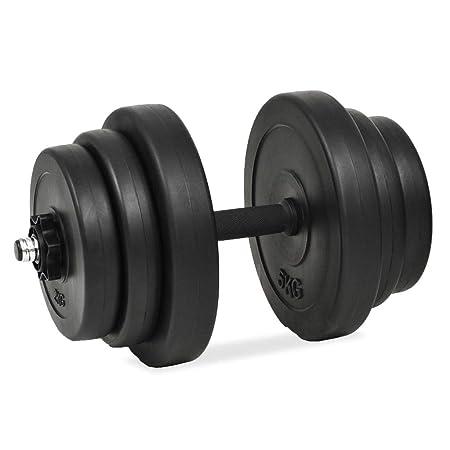 vidaXL Juego de Mancuernas Pack de Fitness Musculación Gimnasio: Amazon.es: Bricolaje y herramientas