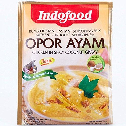 Indofood Opor Ayam - pollo en salsa picante de coco, 45 gramos (4 paquetes