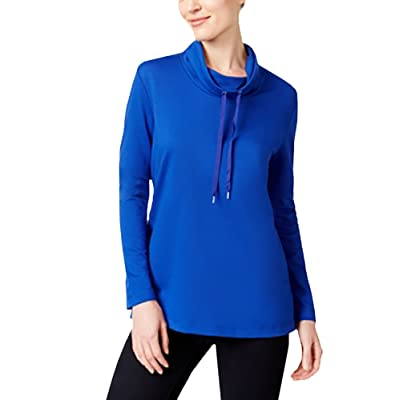 Karen Scott Drawstring Funnel-Neck Sweatshirt at Women's Clothing store