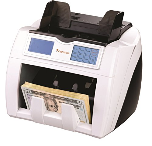 Carnation CR2 Currency Counter with Triple Counterfeit Detection UV MG IR TOUCHSCREEN, Up To 1500 Bills/Minute by Carnation